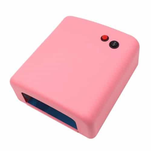 Lampa UV manichiura 36 W, 4 neoane, timer, roz-0