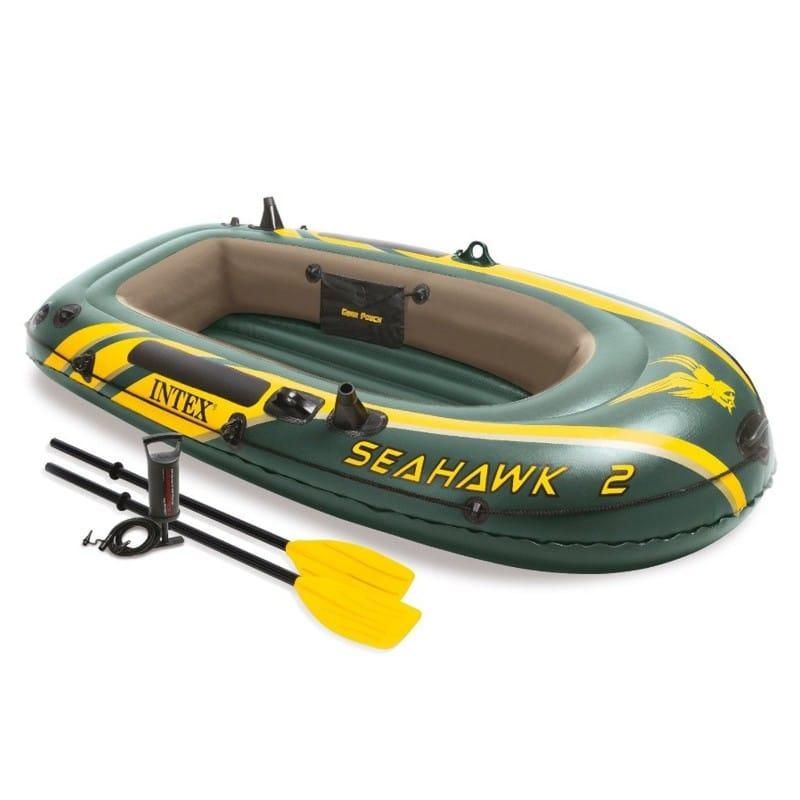 Barca gonflabila cu vasle si pompa Seahawk 2 Intex 68347NP