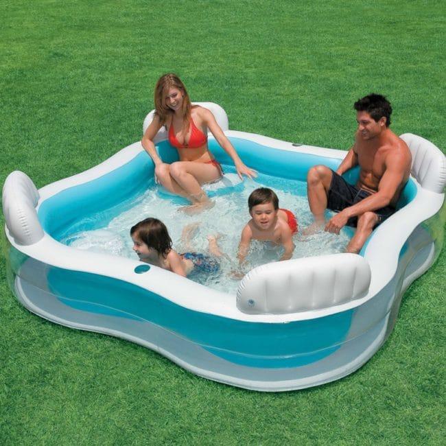 Piscina gonflabila Intex Swim Center 56475 229 x 229 x 66 cm-710