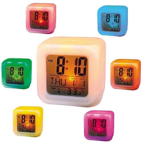 Ceas cub digital cu alarma si termometru