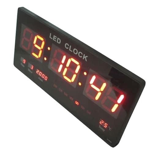 Ceas de perete cu afisaj digital, termometru, calendar-654