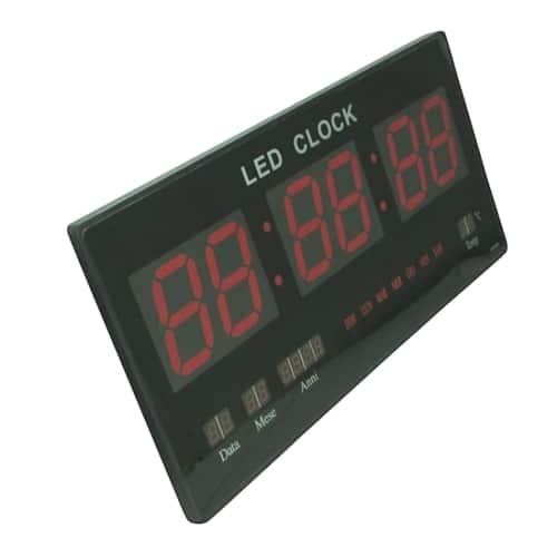 Ceas de perete cu afisaj digital, termometru, calendar-0