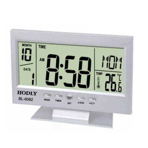 Ceas digital cu alarma si termometru BL-8082-0