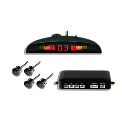 Kit 4 senzori de parcare cu display Led, negru-0