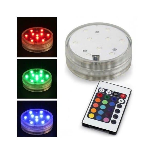 Lampa submersibila multicolora cu 9 leduri si telecomanda-0