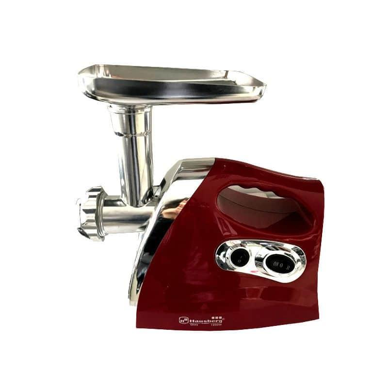 Masina de tocat electrica Hausberg HB-3508, 1200 W, 5 accesorii, rosu