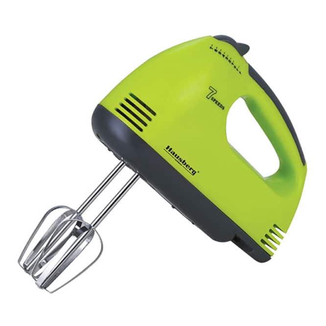 Mixer de mana Hausberg HB-4112, 250 W, 7 viteze, Verde/Gri-0
