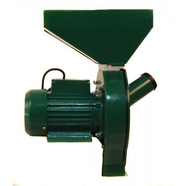 Moara electrica cu ciocanele verde, 2.5 kW, 3000 RPM-0