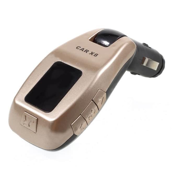 Modulator auto FM X8, 1 x USB, suport card TF-0