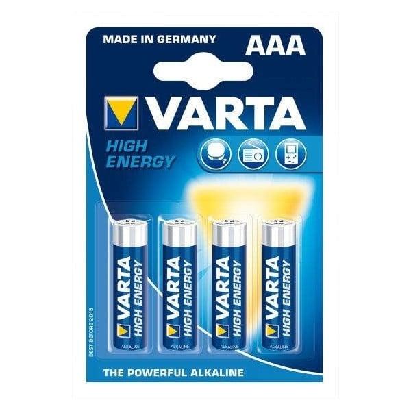Baterii alcaline Varta AAA, 4 piese-0