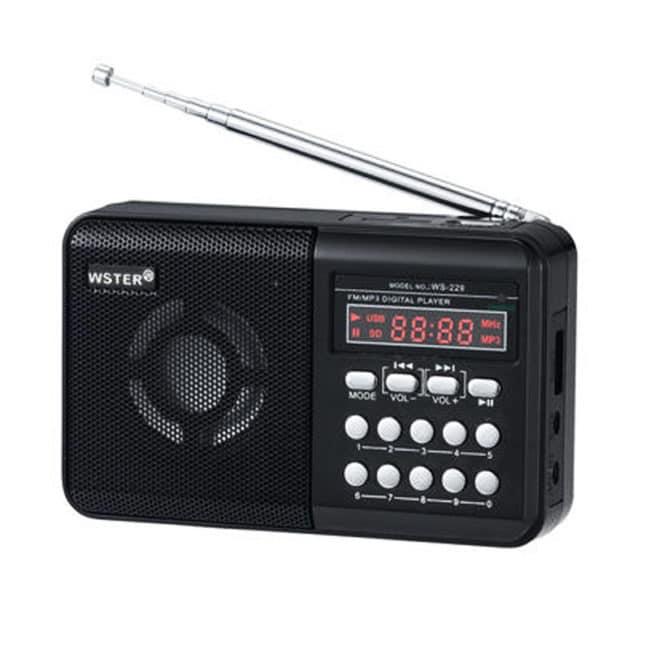 Radio portabil Wster WS-229, afisaj LCD-0