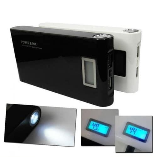 Baterie externa PowerBank 12000 mAh, afisaj LCD, 2 x USB-1899