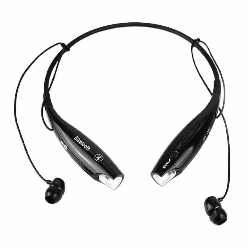 Casti stereo cu microfon si bluetooth HBS-730TF, Negru