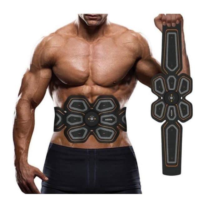 Centura electrostimulare Six Pack EMS pentru abdomen si solduri-0